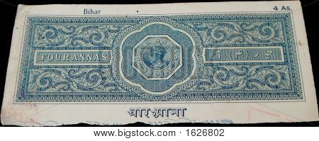 Old Judicial Stamp Paper - 4 Anna