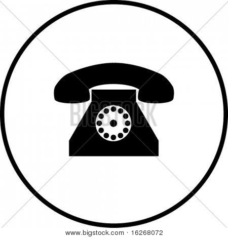 antique phone symbol