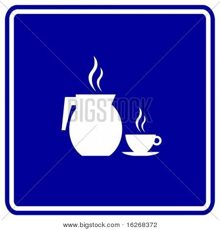coffee pitcher and cup sign
