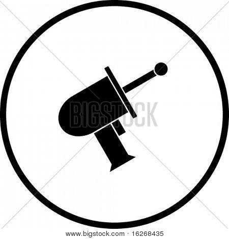 laser gun symbol