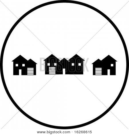 neighborhood houses symbol