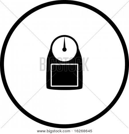 personal weight scale symbol