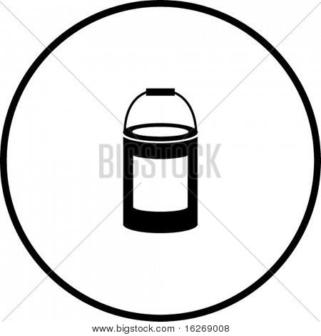 paint bottle symbol