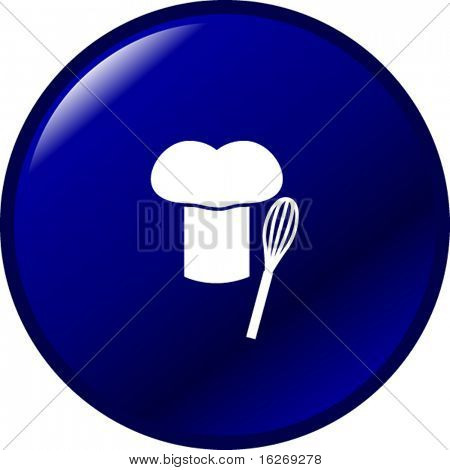 chef hat and whisk button
