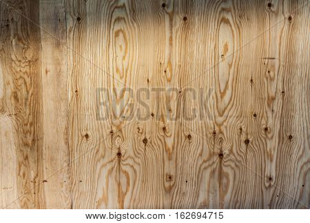 texture of oak wood beam of light falls