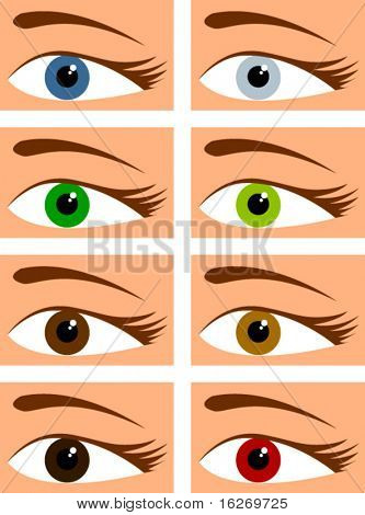 eyes in different colors