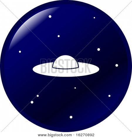 ufo in the space button
