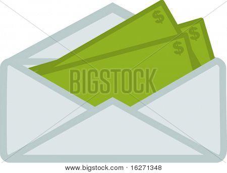 dinheiro no envelope
