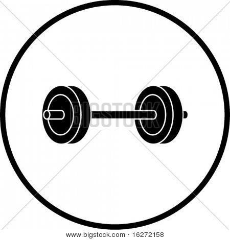 barbell weights symbol