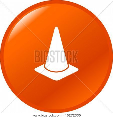 traffic cone button