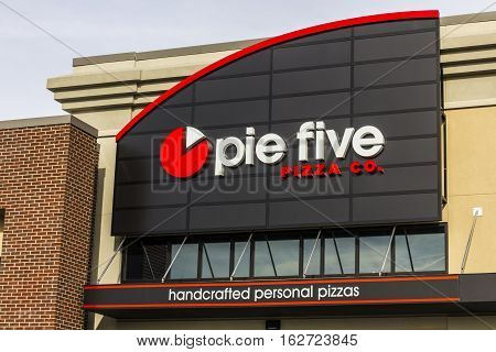 Indianapolis - Circa December 2016: Pie Five Pizza Co. Fast Casual Restaurant Location. Pie Five Pizza is owned by Rave Restaurant Group (RAVE) I