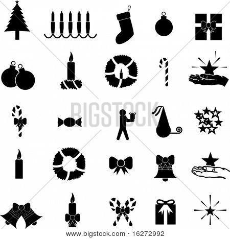 christmas symbol collection set 1