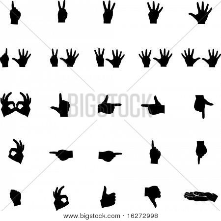 hands symbol collection set 1