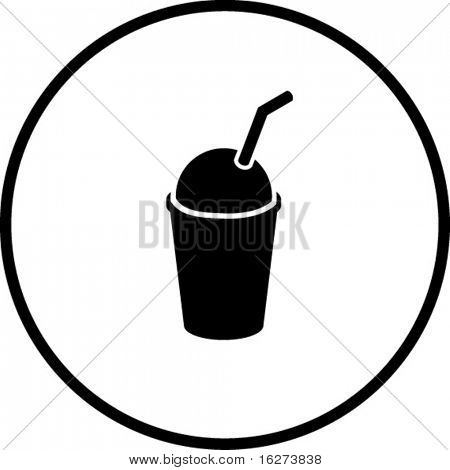 ice cold coffee beverage with drinking straw