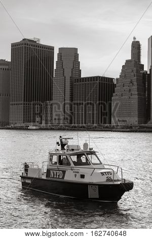 New York City Police Department Boat