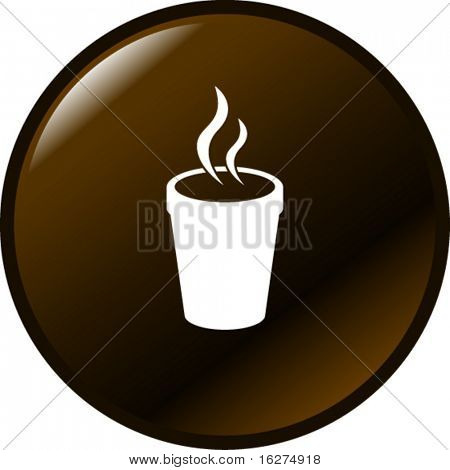 styrofoam cup with hot beverage button