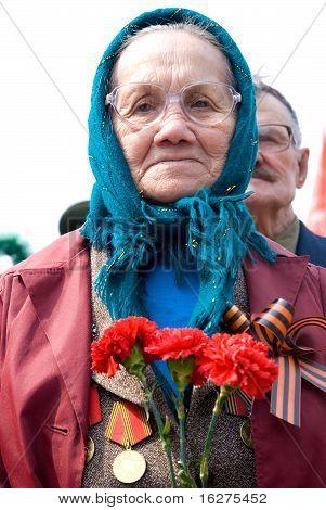 Old Woman Veteran Of Wwii