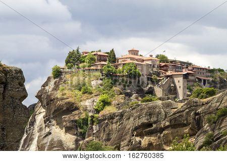 Meteora monasteries incredible sandstone rock formations. Greece