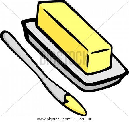 Butter oder Margarine und Verbreitung Messer