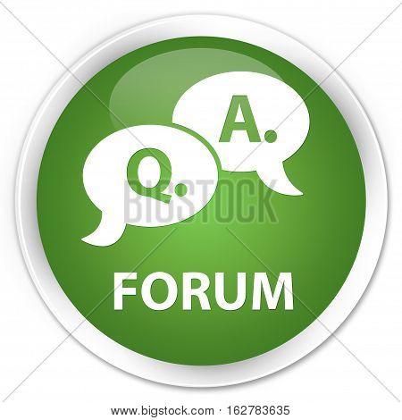Forum (question Answer Bubble Icon) Premium Soft Green Round Button