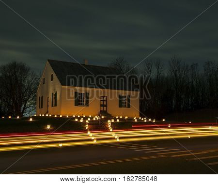Dunker Church At Antietam Battlefield In Sharpsburg, Md