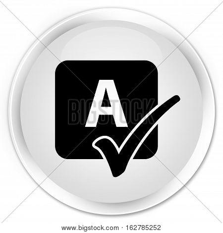 Spell Check Icon Premium White Round Button