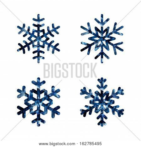 Christmas Snowflakes Set Isolated Illustration