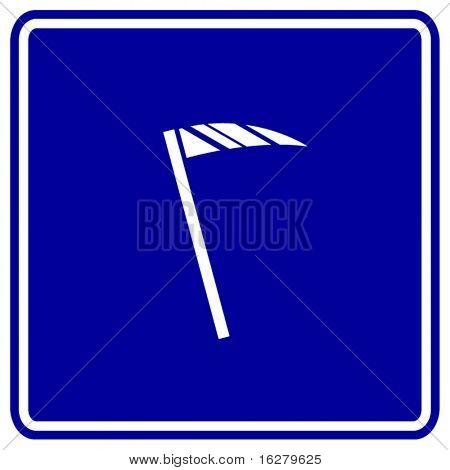 scythe agricultural tool or death blade sign