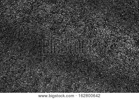 Black plastic foam texture or plastic foam background for design with copy space for text or image.