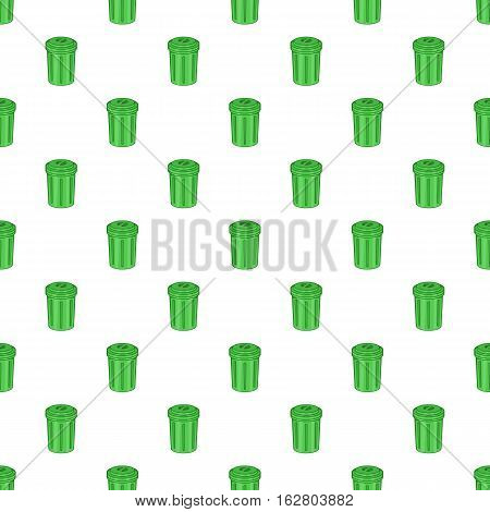 Trash can pattern. Cartoon illustration of trash can vector pattern for web