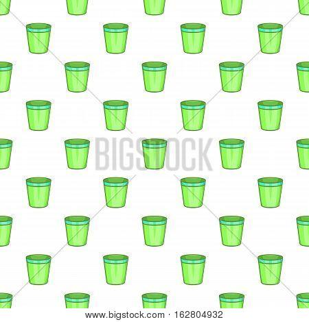 Empty trash can pattern. Cartoon illustration of empty trash vector pattern for web