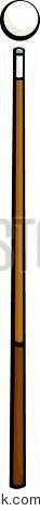 pool cue and ball