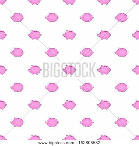 Piggy pattern. Cartoon illustration of piggy vector pattern for web