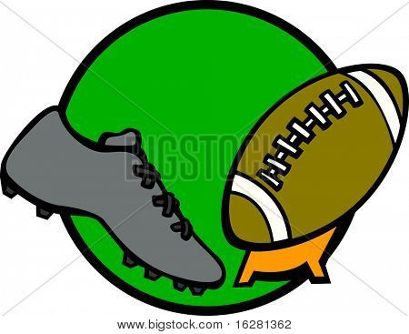 sport shoe kicking a football