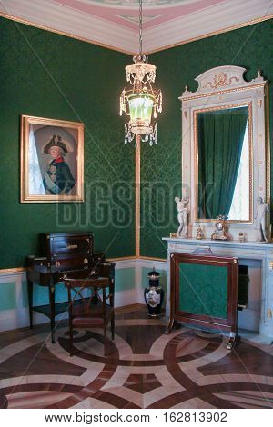 Gatchina, Russia - 3 December, Interior office tower Maria Feodorovna, 3 December, 2016. Visit the Museum Reserve Gatchina Palace.