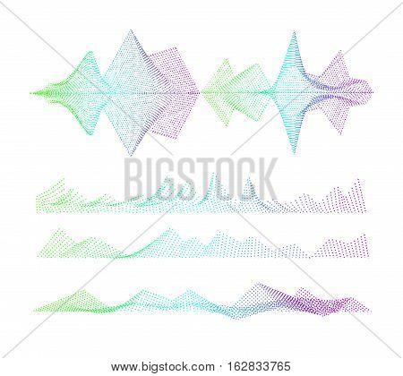 Vector Sound equalizer, colorful musical concept. Audio wave digital design waveform.