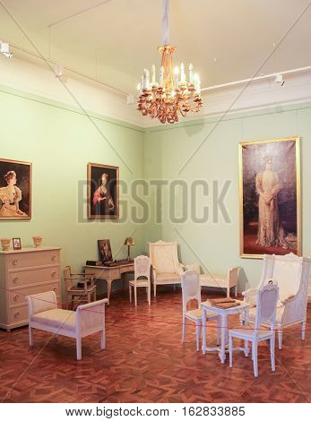 Gatchina, Russia - 3 December, Interior Maria Feodorovna's office, 3 December, 2016. Visit the Museum Reserve Gatchina Palace.