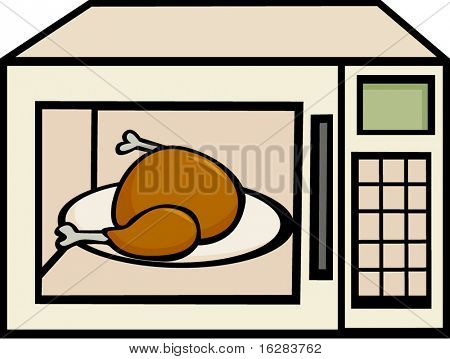 chicken or turkey in a microwave oven