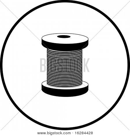 thread or cable spool symbol