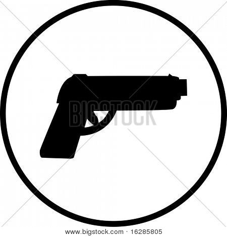 gun firearm symbol