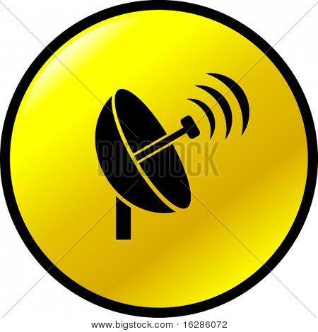 botón de transmisión de antena