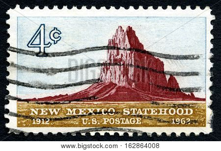 UNITED STATES OF AMERICA - CIRCA 1980: A used postage stamp from the USA commemorating the 50th Anniversary of New Mexico Statehood circa 1980.
