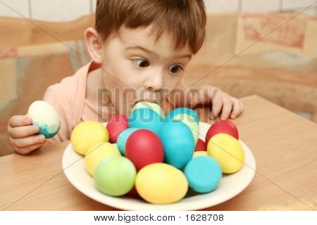 The Boy Eats Easter Eggs