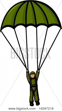military paratrooper