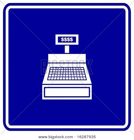 cash register machine sign