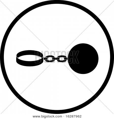 ball and chain shackles symbol