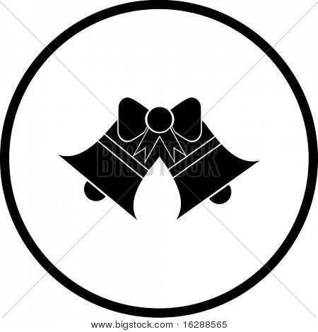 two christmas or wedding bells symbol