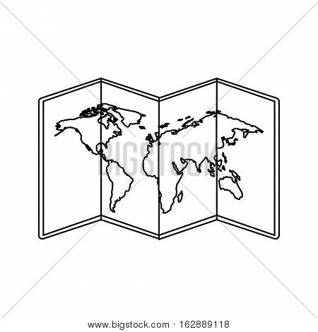 world map paper geography icon vector illustration design