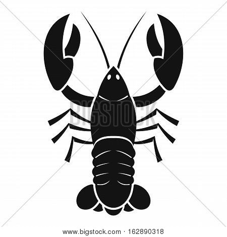 Simple illustration of crawfish vector icon for web
