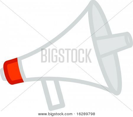 electric bullhorn or megaphone